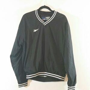 Vintage Black Reebok Pullover Lined Windbreaker